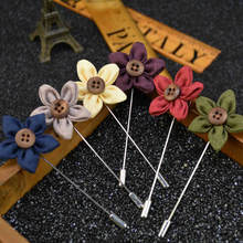 Small daisy-shaped corsage multiple colors  Handmade Boutonniere Stick Brooch Pin Men Brooch Lapel Pin For  Wedding Party small daisy shaped corsage multiple colors handmade boutonniere stick brooch pin men brooch lapel pin for wedding party