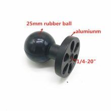 """1 """"אינץ (25mm) כדור עם 1/4 20"""" בורג חור לgopro גיבור, DV מצלמות"""