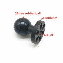 """Bola de 1 """"pulgadas (25mm) con orificio de tornillo de 1/4 20"""" para cámaras Gopro Hero , DV"""