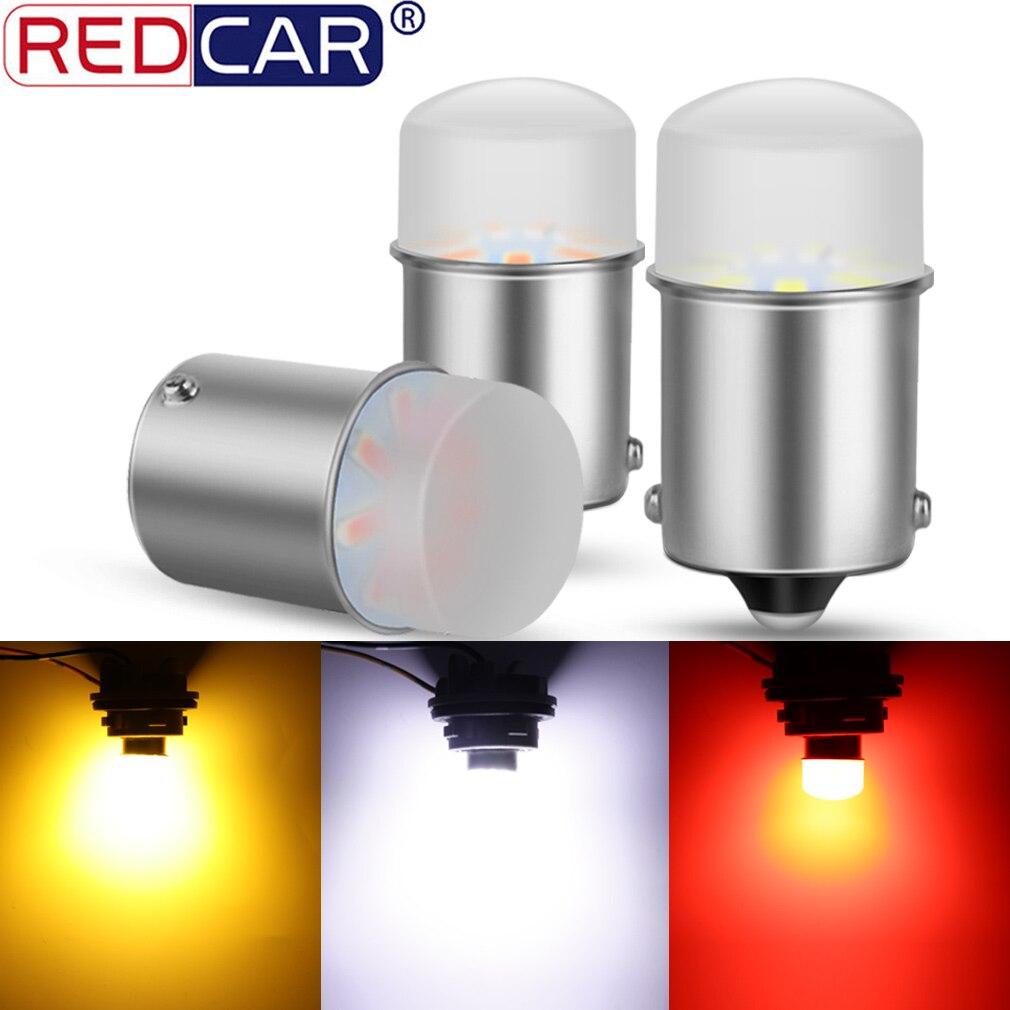 1 шт. 1156 BA15S P21W 1157 P21/5 Вт BAY15D Светодиодная лампа автомобиля сигнальная лампа R5W R10W 3014SMD поворотного тормоза резервного копирования светильник ...