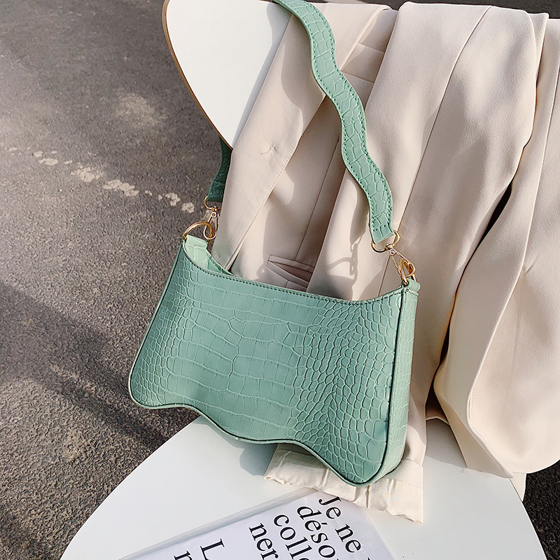 Quality Bags For Women 2020 Retro Small Shoulder Bag Summer Stone Pattern Handbag And Purse Solid Color Leather Totes Bag