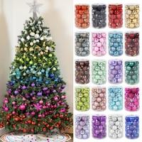 34 stücke Weihnachten kugeln Weihnachten baum decor hängen ornament Weihnachten dekorationen für startseite xmas navidad Weihnachten 2020 geschenk ball