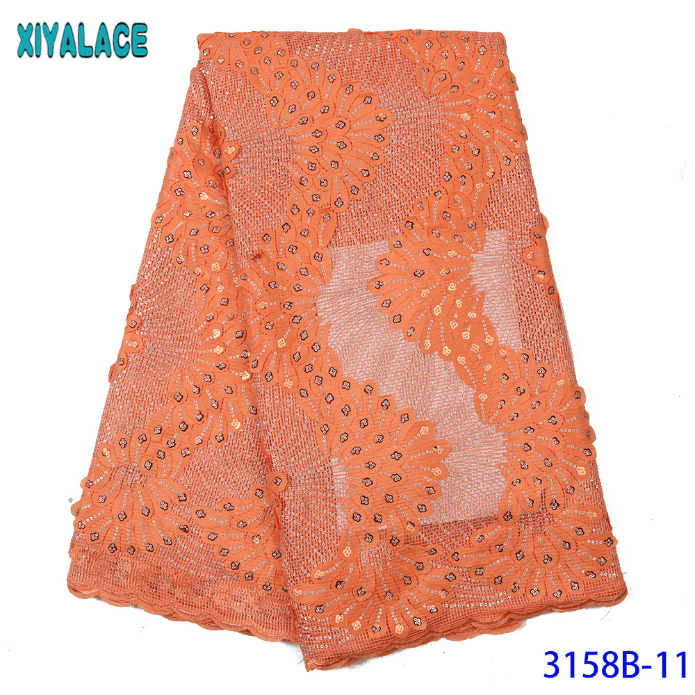 Latest Lace Fabric French Lace Fabric Nigerian Lace Fabric 2019 High Quality Mesh Lace Satin Laces With Sequins KS3158B