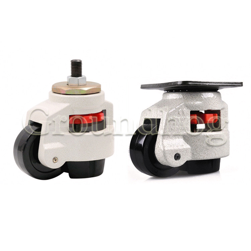 Nylon Supported caster Wheels Industry Horizontal Adjustment Nylon Wheel and NBR Pad Leveling Caster Universal casters