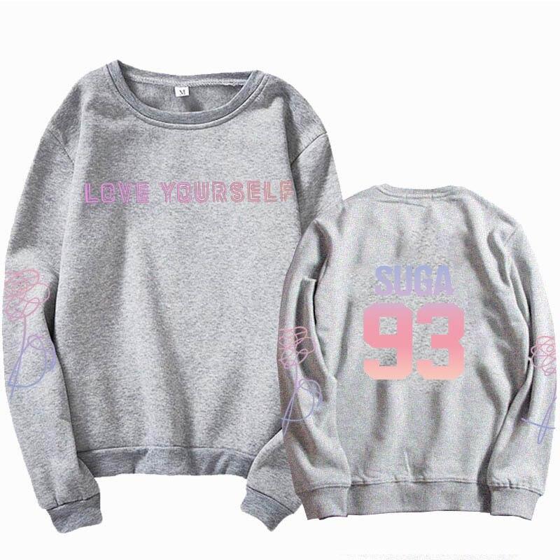 jungkook Unisex hoody kpop suga93 hoodies love KPOP weatshirt love yourself KPOP hoody sweatshirt  harajuku hoodies 16