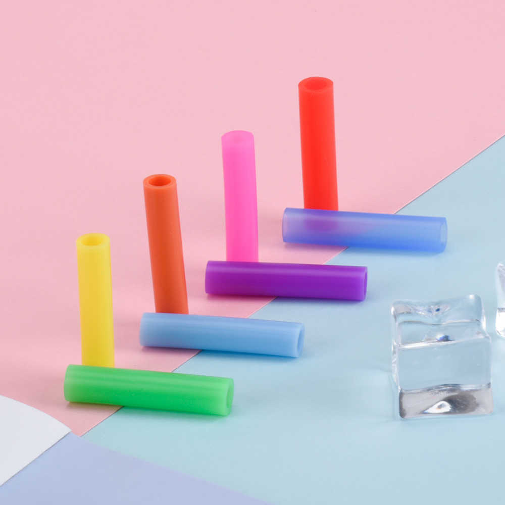 Соломенный силиконовый чехол для металлической соломинки многоразовый Защитный колпачок для зубов аксессуары питьевые принадлежности для барной вечеринки