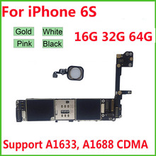 Unlocked Motherboard for iPhone 6S 4.7 Free iCloud logic board with Full Chips Mainboard 16GB 32GB 64GB
