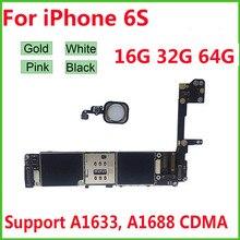 Unlocked anakart için iPhone 6S 4.7 ücretsiz iCloud mantık kurulu ile tam cips anakart 16GB 32GB 64GB