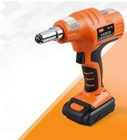 14.4V portable cordless electric rivet gun rechargeable riveter battery riveting tool pull rivet nut tool