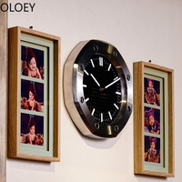 Black Luxury Wall Clock Metal Large Creative Wall Watch Living Room Modern Silent Luminous Watch Home Decor Reloj De Pared Clock