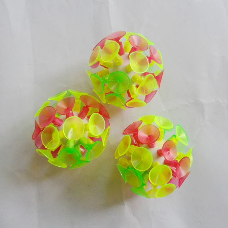 New Plastic Soft Sucker Sticky Slime Adhesive Glowing Ball Children Outdoor Fun Sport Games Educational Novelty Toys