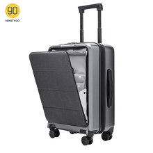 NINETYGO 90FUN Carry On Luggage with Spinner Wheels 20 Inch Hardside Hardshell TSA Compliant Suitcase Front Pocket Lock Cover