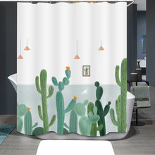 Cactus Shower Curtain 3d Bathroom Shower Curtains Fabric Shower Curtain Funny Waterproof Shower Curtain bathroom curtain portrait shadow waterproof fabric shower curtain
