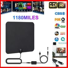 US  Canada Newest High Quality 1180 Miles 4K Digital HD TV Antenna With Amplifier