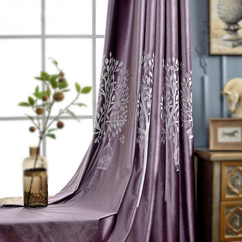 Purple Blackout Curtain Night Curtains White Embroidered Sheer Curtain Tulle Curtain Green Window Panel Velvet Fabrics