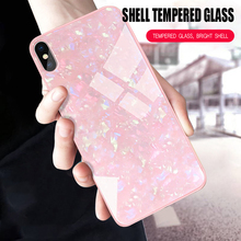 Tempered Glass Hard Conch Shell Case For Xiaomi Mi 9T Pro Mi 9 SE Mi 8 Mi A2 Lite Mi 5X A1 Mix 2S Redmi K20 6 6A Note 5 6 7 Case yimaoc the godfather fashion glass case for xiaomi redmi 4x 6a note 5 6 7 pro mi 8 9 lite a1 a2 f1