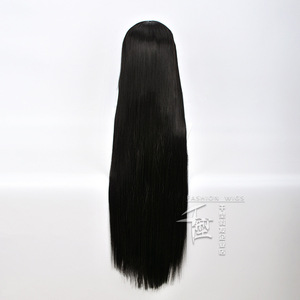 Image 5 - Anime Kakegurui Yumeko Jabami Cosplay Wig Straight Long Black Heat Resistant Synthetic Hair Cosplay Wig+Wig Cap Role Play
