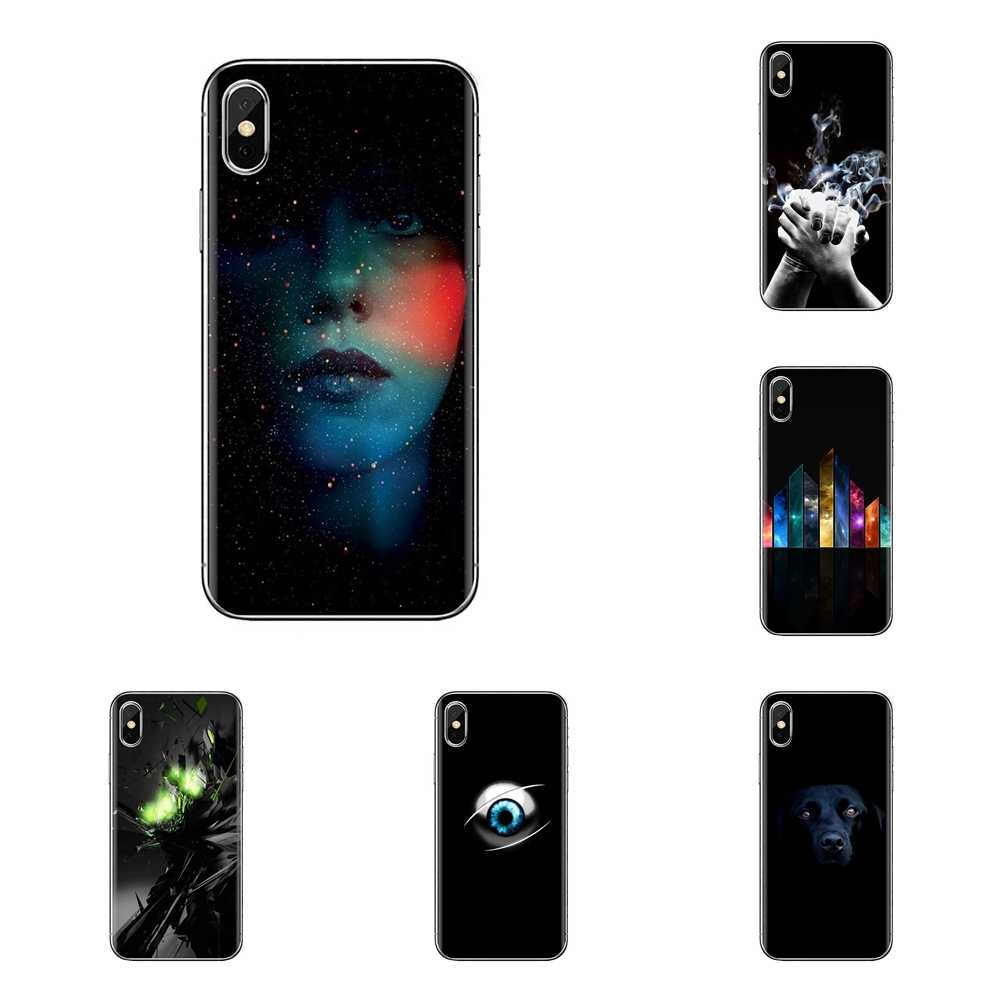 Dark Black Wallpapers Hd For Samsung Galaxy S2 S3 S4 S5 Mini S6 S7 Edge S8 S9 Plus Note 2 3 4 5 8 Coque Fundas Mobile Phone Case Fitted Cases Aliexpress