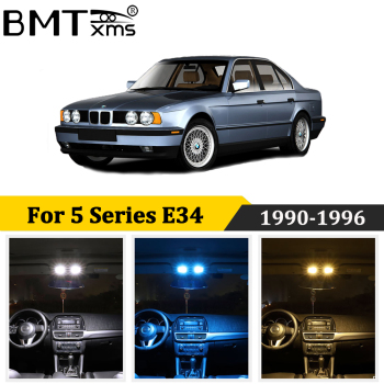 BMTxms 16Pcs Canbus led Car Interior Lights Kit For BMW 5 Series E34 M5 518i 525i 530i LED Interior Map Trunk Door Light image