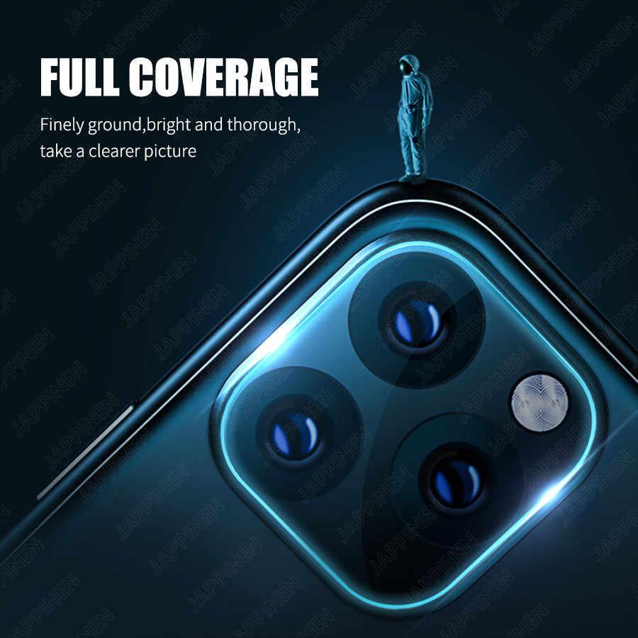 عدسة الكاميرا غطاء كامل واقية حلقة معدنية + الزجاج المقسى ل آيفون 11 برو XS ماكس XR X عودة حامي عدسة الكاميرا