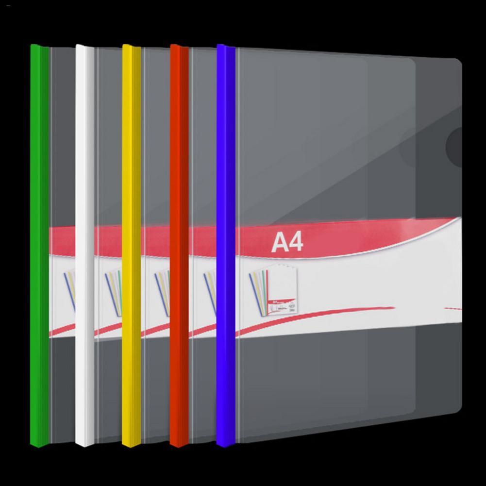Transparent Folder 10Pcs Resume Presentation FILE Folders Report Cover With Sliding Bar Manager Binder For A4 Size Paper