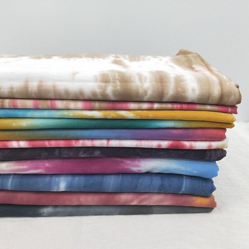 50 см X 145 см Ткань с принтом Tie-dye 100% хлопок ткань Радуга швейная ткань для платья ZR