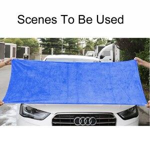 Image 5 - 160*60cm 1 pçs toalha de lavagem de carro toalha de microfibra hemming cuidados com o carro detalhando lavagem limpeza pano de secagem