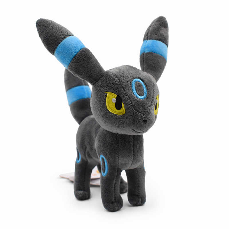 Umbreon de pie brillante animal de peluche juguete de dibujos animados de calidad 23 cm