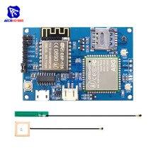 Diymore ESP8266 ESP 12S CH340 A9G GSM GPRS + GPS IOT düğüm V1.0 hücre modülü geliştirme kurulu çift IPEX anten için arduino için