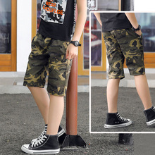 IENENS Shorts Camouflage Short Trousers Children Short Jeans Kids Baby Cotton Boardshorts Boy Summer Shorts Staright Jeans