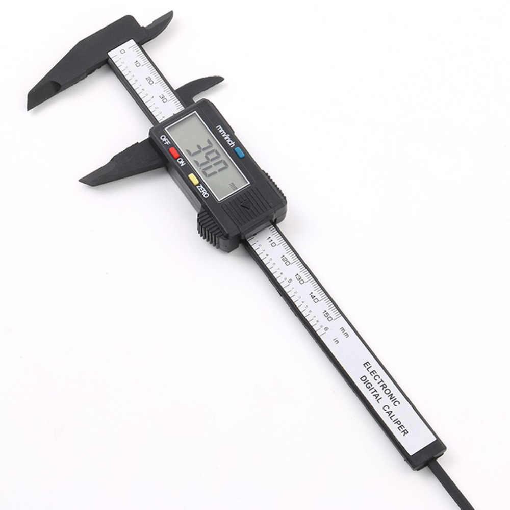 Haute qualité Vernier pied à coulisse 150mm 6 pouces LCD numérique électronique en acier inoxydable jauge de Fiber de carbone micromètre outils de mesure
