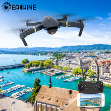 Eachine e58 rc quadcopter mini zangão wifi fpv profesional com 720p/1080p grande angular hd câmera dobrável braço corrida brinquedos dron