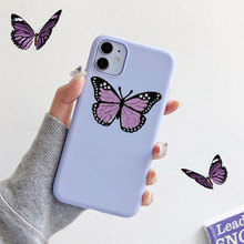 цена на Purple Butterfly phone case For iphone 11 Pro Max silicone case Xs MAX XR X 6 6s 7 8 plus  for coque iphone 11