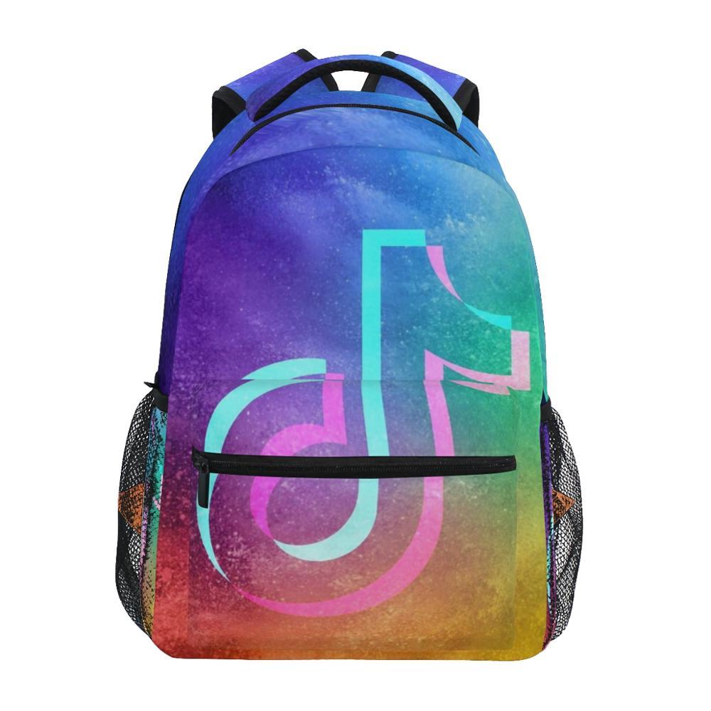 ALAZA TikTok Backpacks Pink School Bag Girls Likee Printed Women Notebook Bag Big Capacity Weekend Travel Laptop Bags For Female