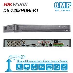 Видеорегистратор Hikvision Max с поддержкой 8 Мп, видеорегистратор 5 в 1 для HDTVI/HDCVI/AHD/CVBS/IPC с аналоговой камерой