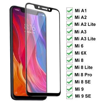 Перейти на Алиэкспресс и купить 9H защитное стекло на для Xiaomi mi a1 A2 A3 Lite 5X 6X закаленное стекло для mi 6 8 9 SE Pro полное покрытие Защитная пленка для экрана