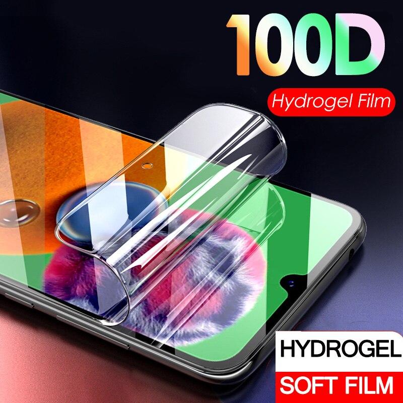 100D Hydrogel Film On For Samsung A51 A71 A01 Soft Screen Protector For Samsung A 51 71 01 A715 A515 A015 Film Not Glass