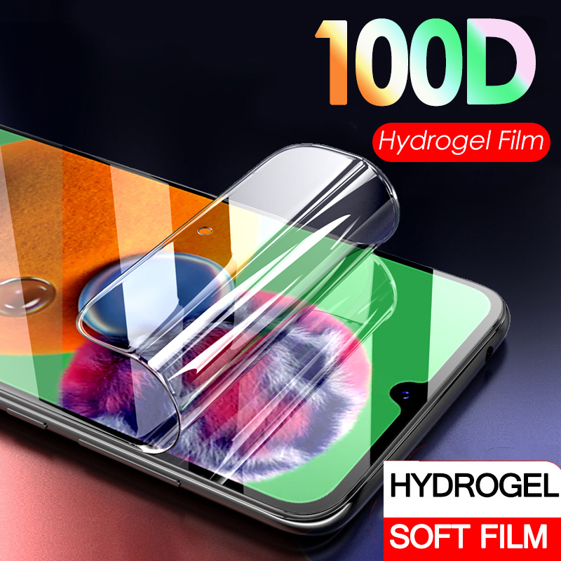 100D Hydrogel Film On For Samsung A51 A71 A01 Soft Screen Protector For Samsung A 51 71 01 A715 A515 A015 Film Not Glass