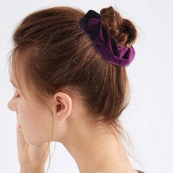 Velvet Scrunchie Hairband For Women Girls Elastic Hair Rubber Bands Hair Accessories Headband Gum Hair Tie Rope Ponytail Holder 4