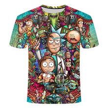 Rick and Morty By Jm2 Art 3D t shirt Men tshirt Summer Anime