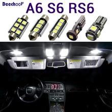 טהור לבן רכב LED אור עבור אאודי A6 S6 RS6 C5 C6 C7 סדאן Avant 1997 2016 Canbus אוטומטי פנים אור ערכת כיפת מפת אורות נורות