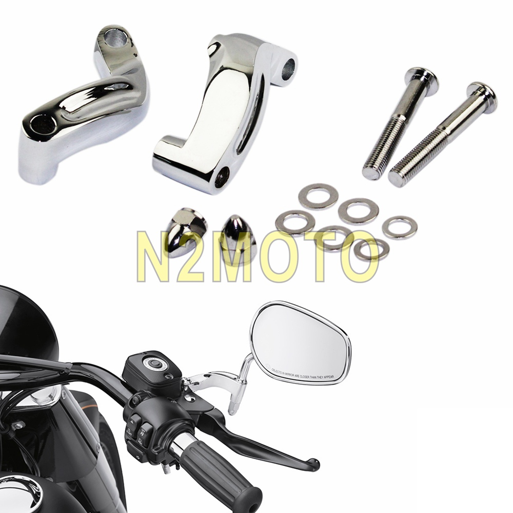 For Harley Electra Glide Fatboy  Mirrors Turn Signal Adapter Mounting Bolts