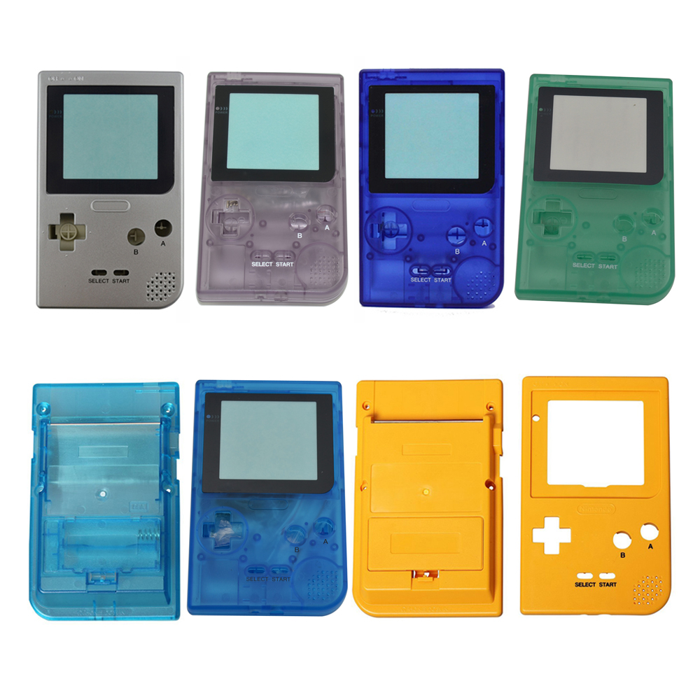 6 Color High quality Classic Full Housing Case Cover Shell Replacement for Gameboy Pocket for G-B-P Game Console