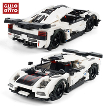 Toys Building-Blocks Vehicle Speed-Bricks City-728pcs Supercar Technic-Sports Racer Children