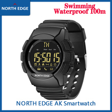 North EDGE 남자 스포츠 시계 군사 방수 100M 육군 Led 디지털 손목 Stopwatches 알람 남성 IOS 안 드 로이드에 대 한