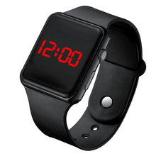 Watch Mens For kids Women Men Couple Electronic Digital Sports Watch Electronic Clock Hodinky digital relogio часы A001 cheap DOOBO Plastic CN(Origin) 10cm No waterproof Buckle Rectangle 20mm LED Display Repeater Back Light No package 40mm Silicone
