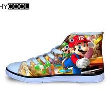 HYCOOL Аниме Супер Марио Детские кроссовки японский мультфильм спортивная обувь для детей детская дышащая парусиновая обувь прогулочная обувь