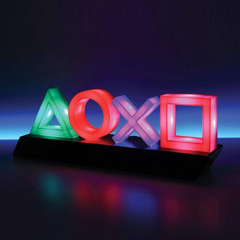 Sterowanie głosem ikona gry światło akrylowa atmosfera lampa neonowa Bar dekoracyjna lampa ściemniająca Bar Club KTV ścienne oświetlenie komercyjne
