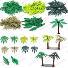 Leaves Building Blocks Set  Accessories Moc City Block Military Plant Scenes Assembly Model Child Christmas Birthday Gifts Toys