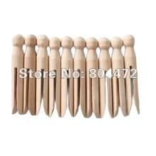 Clavija de madera Natural para dolly, pinzas para ropa de madera de estilo tradicional Dolly, pinzas para ropa redondas de madera, 10x